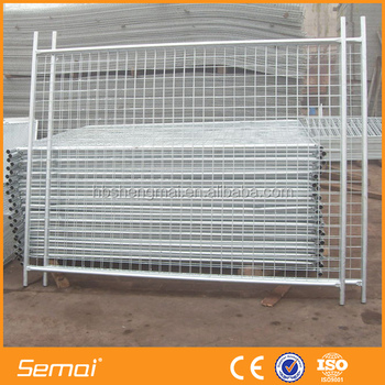 Anping Manufacture Semai Factory 6ft Free Standing Removable Temporary Fence Panels Hot Sale
