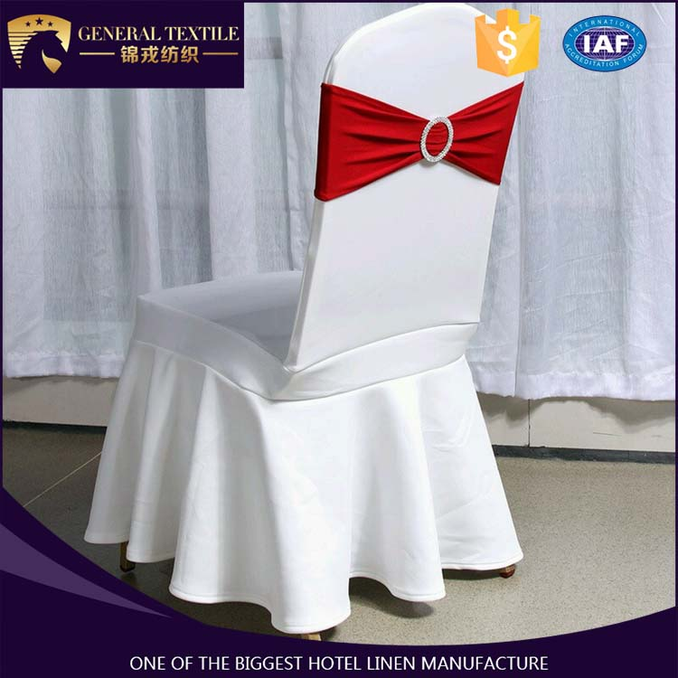 2016 hot sale solid color spandex wedding hotel chair cover