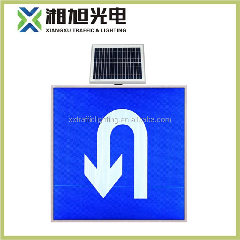 2016 manufacturer customizable outdoor road safety Solar powered LED arrow sign display for road safety