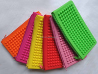 clearance sale cheap affordable embossed round dot silicone jelly wallet
