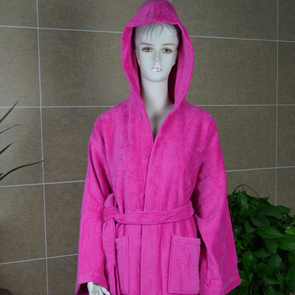 Hot sales 100% rayon women bathrobe with edging