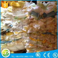 China factory price mixed colors clear polyurethane foam scrap