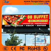 outdoor commercial advertising p10 led display screen