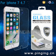 9H Hardness Premium Mobile Phone Tempered Glass Screen Protector For iPhone 7