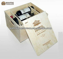 Hot sale natural style wooden wine bottle boxes