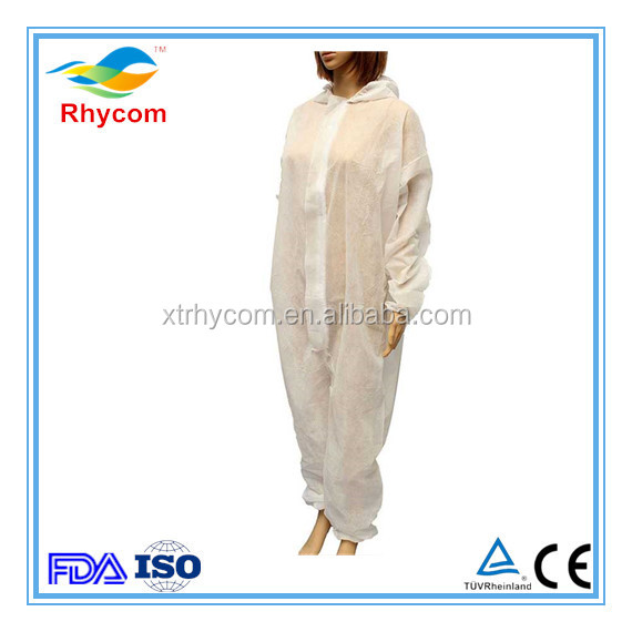 Disposable non woven protective clothing work wear coverall lab coat isolation gown clean clothes