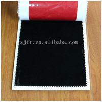 SGS high quality 100% Polyester woven inherently fire retardant short plush Fabric for Stage Curtain/Window Drapery