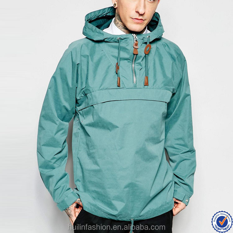 guangdong wholesale polyester jackets hooded neck overhead fashion jacket men