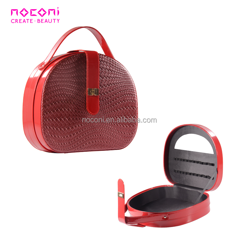 Factory price Luxury ladies laptop nick and nora cosmetic bags cases ladies folding with mirror makeup case box
