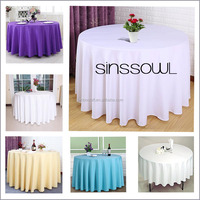 Wedding Table linens 100% Polyester Plain Colored Table Cloth for Weddings Hotel Restaurant in Event & Party Supply Wholesale