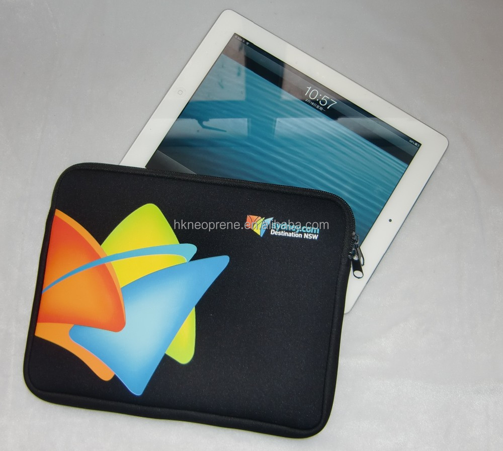OEM Logo Neoprene zipper Tablet sleeve
