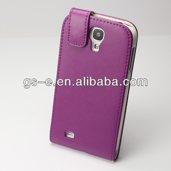 Hot sell PU leather flip cover case for samsung galaxy S4 mobile phone case for S4