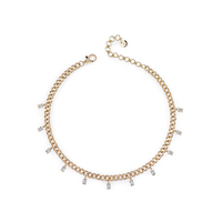 Wholesale Fashion Iced Out 18K Gold Plated Jewelry Choker Necklace
