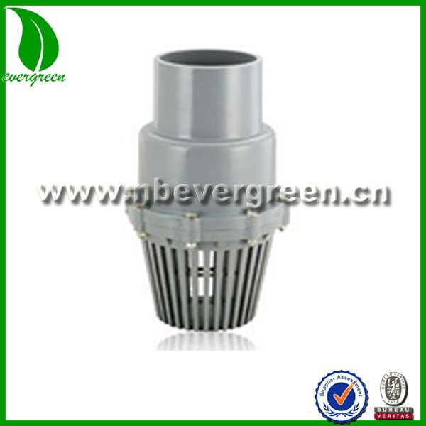China supplier high quality ANSI socket pvc foot valve for river irrigation