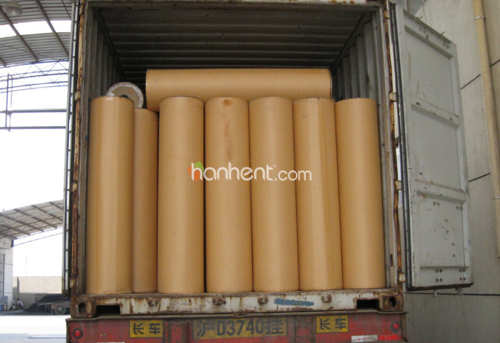 Gym court use wood look foam backing pvc vinyl flooring for Wood look linoleum roll