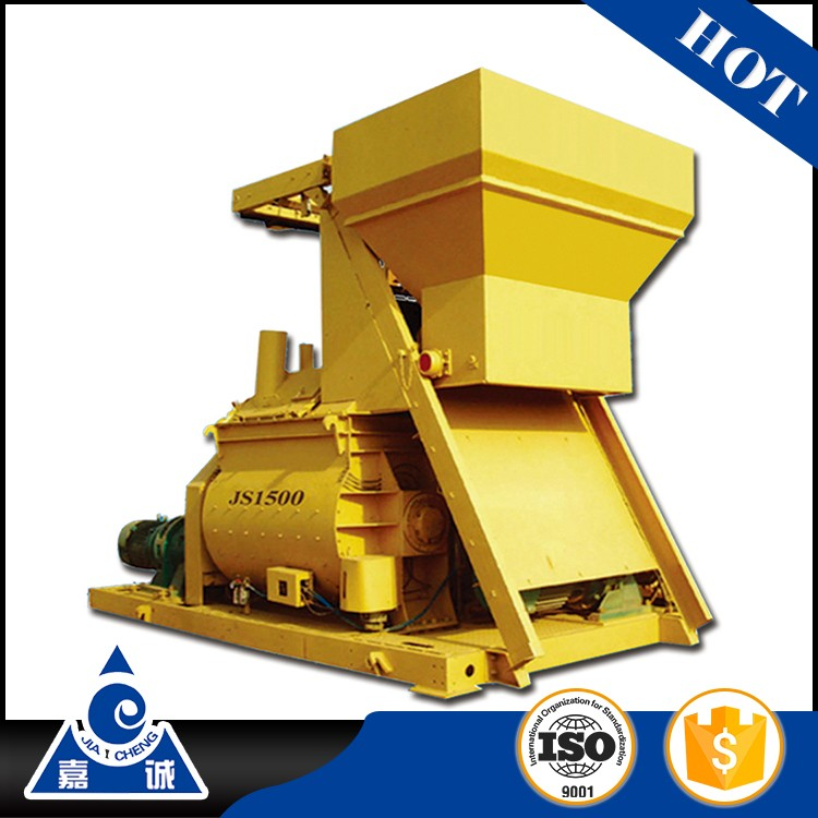 JS1500 sell twin-shaft electric self-loading tractor mounted cement mixer
