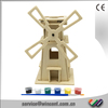 EN71 & CE Approved Kids Wood Intelligence Drawing Windmill Toy