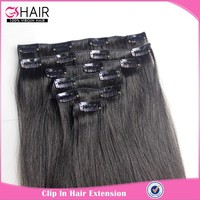 New high quality cheap 100% human hair clip in hair extension for african american