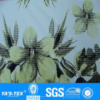Yellow Dot Flower Print 4 Way Stretch Polyester Spandex Lycra Waterproof Fabric Wholesale For Shirt or Dress