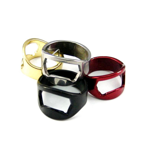 Stainles Steel ring shape bottle opener