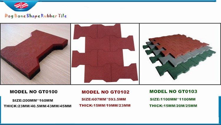 dog bone rubber tile__