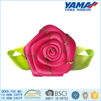 2015 handmade custom color & size polyester ribbon hall decoration flowers