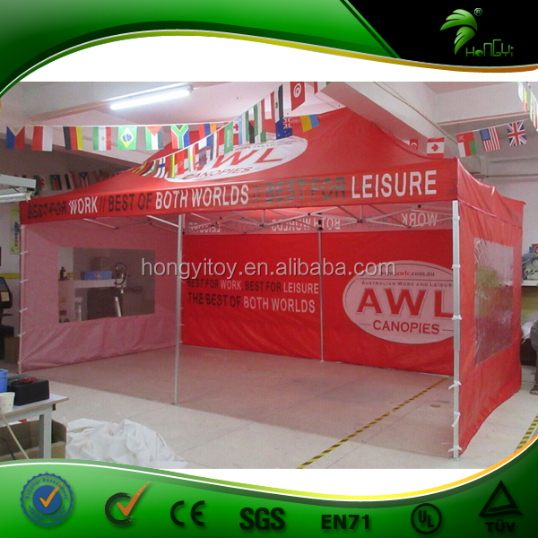 Outdoor Commercial Folding Tent, Gazebo Tent 6x3, Red Gazebo Tent