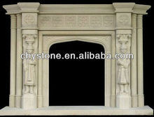 Indoor Hand Carved Stone Fireplace Mantel CHY-FS127