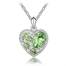 Austrian crystal jewelry necklace-Soul date(olive)