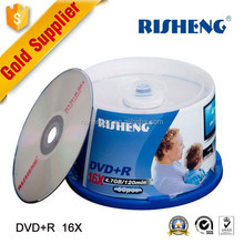 RISHENG 4.7GB wholesale blank dvd 50pcs cake box package 16x/silk printing dvd blank wholesale