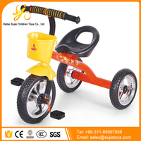Plastic Tricycle Kids Bike / Lexus Cheap Children Tricycle / Kids Tricycle with Push Bar