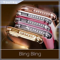 Mobile phone Crystal Rhinestone Diamond Bling Bumper Case Cover for iphone 6 6G frame Alibaba China