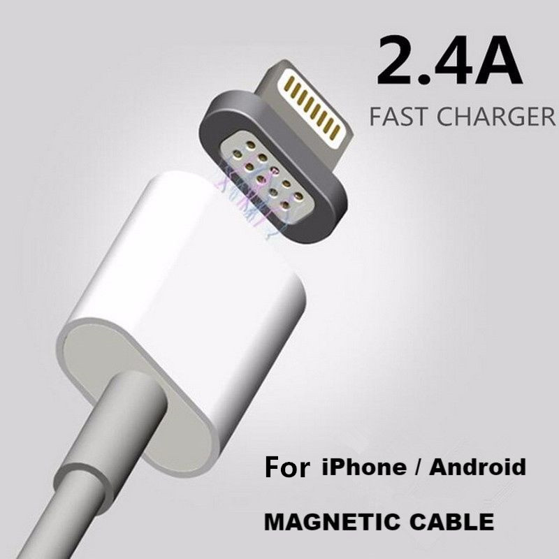 Quick Charge 2.4A Magnetic <strong>Cable</strong> Micro Usb Magnetic Charge <strong>Cable</strong> for iPhone Android for Samsung