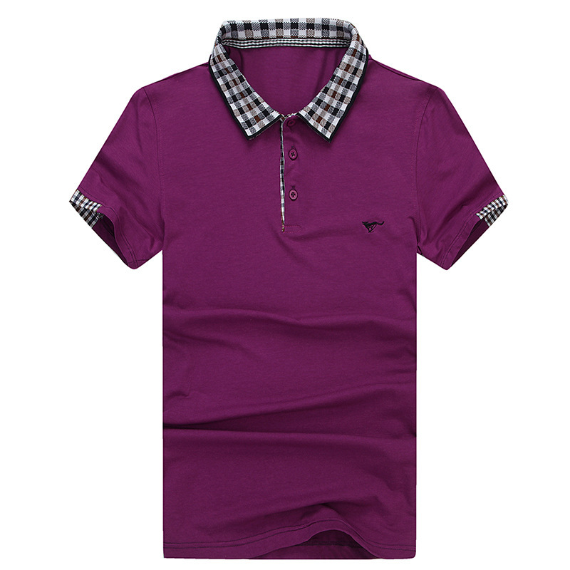 Men's Solid polo shirt 2015 summer style Slim Camisa polo HOT cotton polo Short sleeve Fashion cotton sleeve splice hombre 3XL