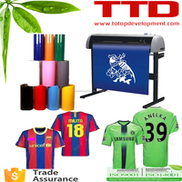 fabric cutting plotter ,jerseys numbering and name printing vinyl logo number graphic plotter
