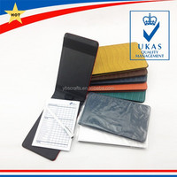 Hot Sale PU leather Golf Scorecard Holder For Golf Club