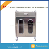 Cheap Stainless Steel Hospital Medicinal Anaesthesia Medicine trolley Cart