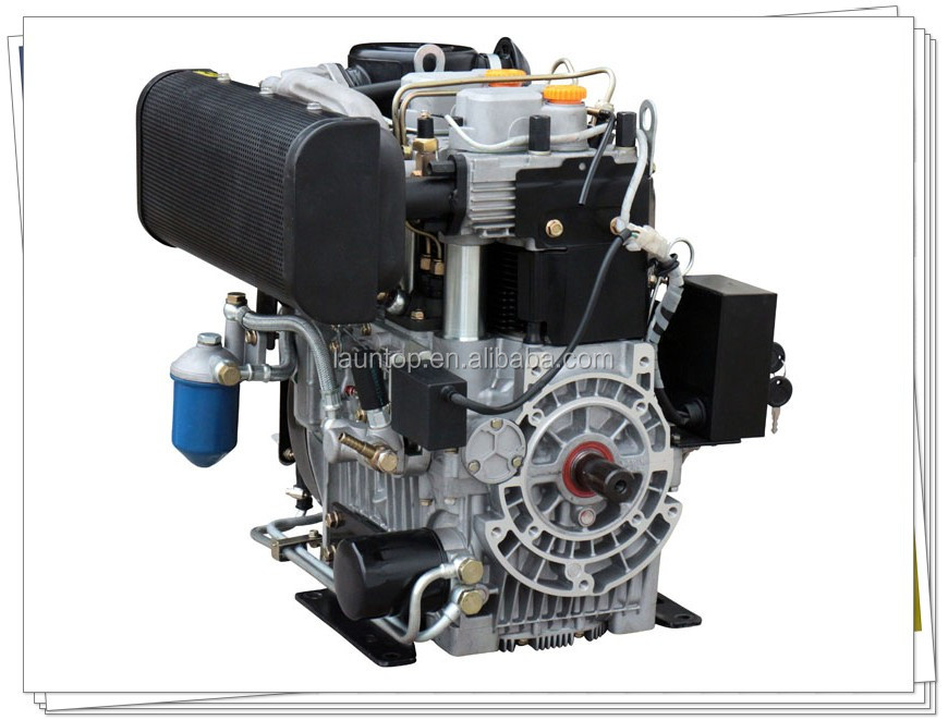 Air Cooled Twin Cylinder 20hp Diesel Engine LA290