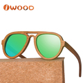 2017 No MOQ Cat 3 UV400 polarized bamboo sunglasses