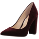 Latest Women Pumps Wine Red Color Suede Uppers Pointed Toe Chunky High Heel Women Pump Shoes