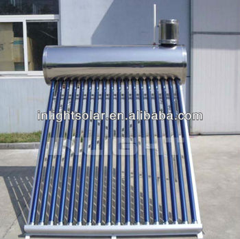 Pressurized Pre-heat Solar Water geyser with Copper Coil