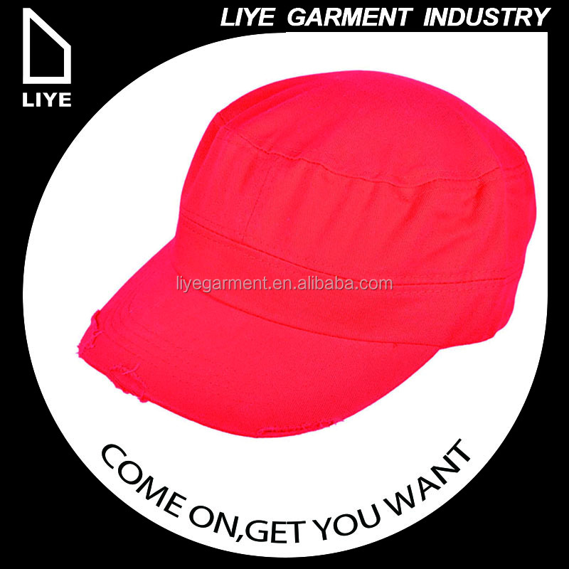 China Liye professional manufacturer high quality women red wholesale military hats