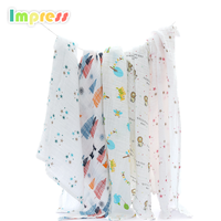 100% Organic cotton fabric muslin baby wrap cloth swaddle blanket