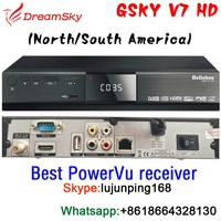 GSKY V7 HD Best DVB-S2 FTA Satellite Receiver for North America/South America market Support Powervu channel auto-roll,IPTV