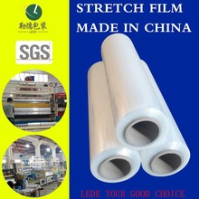Colorful Standard Hand Type High Toughness Stretch Film 17 Mic with 150% Pre-stretching for outlet