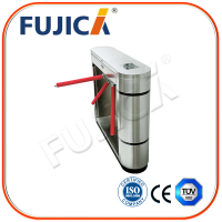 Pedestrian control optical tripod turnstiles access control
