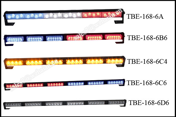 Red Blue Emergency Visor Light/ Car Front Grille Bolted Light/Dual Color Flash Signal Lightbar TBE-16 6C4