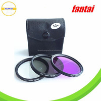 High Precision Ultra-Thin Camera UV+CPL+FLD Filter Set For DSLR