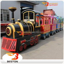 alibaba fr kids game amusement rides electric fiberglass trackless train for sale