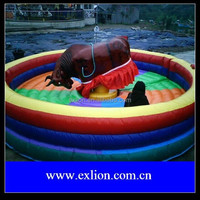 Crazy inflatable mechanical rodeo bull with factory Cheap Price Riding Machine For Adult
